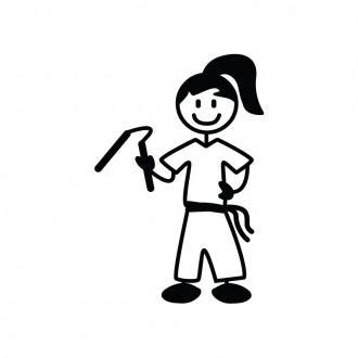 Ragazza karate - adesivi famiglia