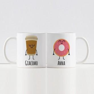 tazze ciambella e caffe personalizzate
