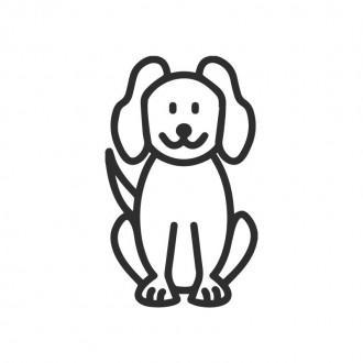 Cane - adesivi famiglia