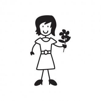 Mamma con fiore - adesivi famiglia