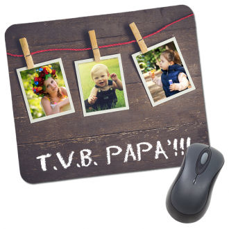 Mouse pad tappetino mouse papà personalizzato