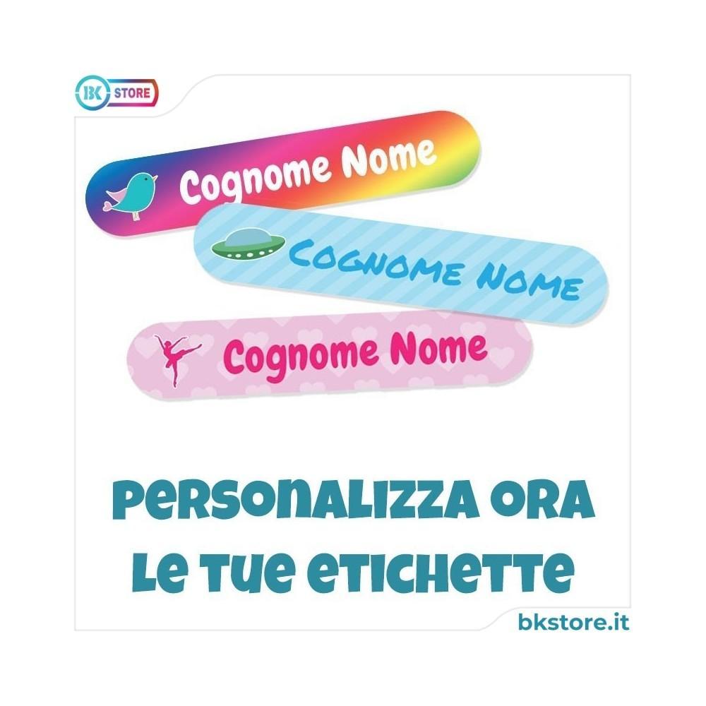 Etichette termoadesive per l'asilo personalizzate 56x11 per grembiule abiti bavaglino ecc