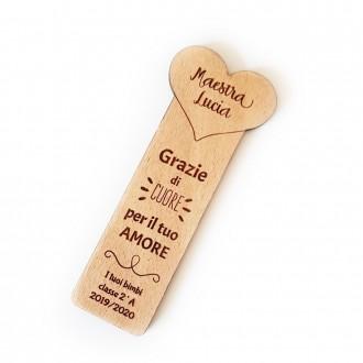 Segnalibro legno maestra personalizzato