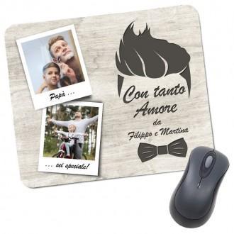 tappetino mouse  pad per il papà personalizzato con foto e nome