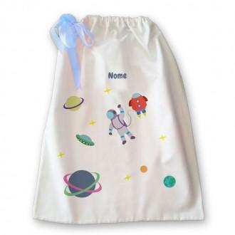 Sacca della nanna con astronauta e nome per bambino