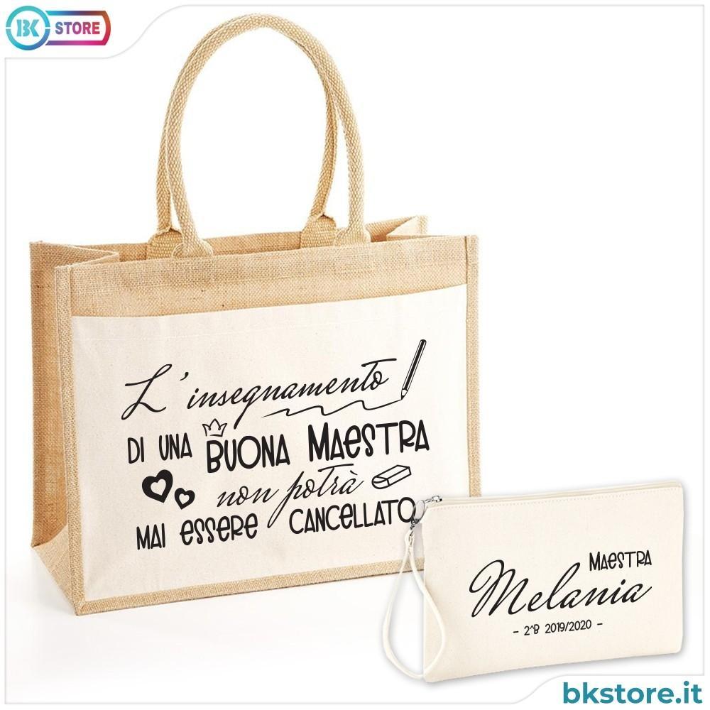 borsa shopper maestra personalizzata