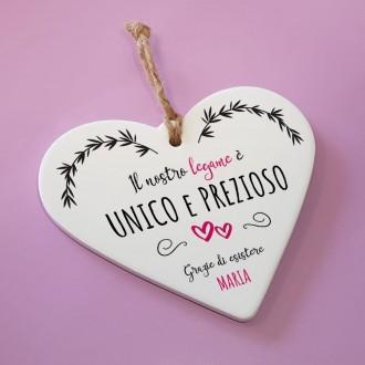 cuore ceramica personalizzato