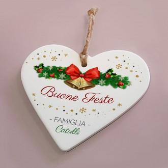 cuore ceramica buone feste