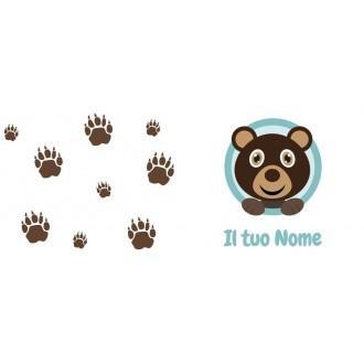 Tazza bambino con orsacchiotto e nome