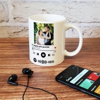 tazza spotify con foto e canzone preferita