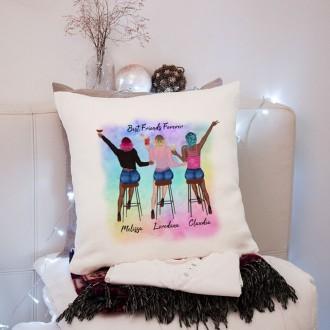cuscino personalizzato quattro amiche