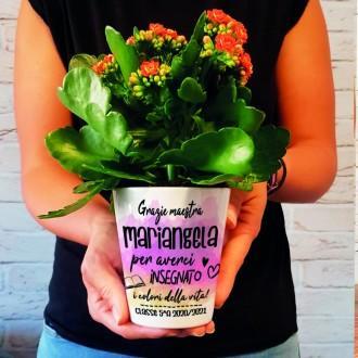 vaso fiori personalizzato regalo per la maestra