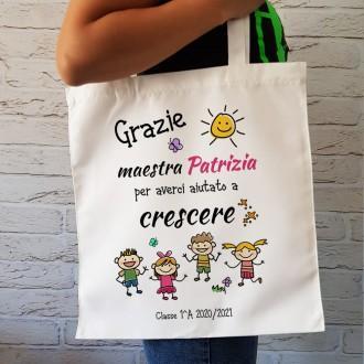 borsa shopper per la maestra o insegnante personalizzata