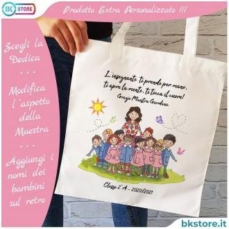 shopper con maestra personalizzata
