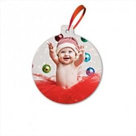 Addobbo Natalizio personalizzato per Albero di Natale tondo