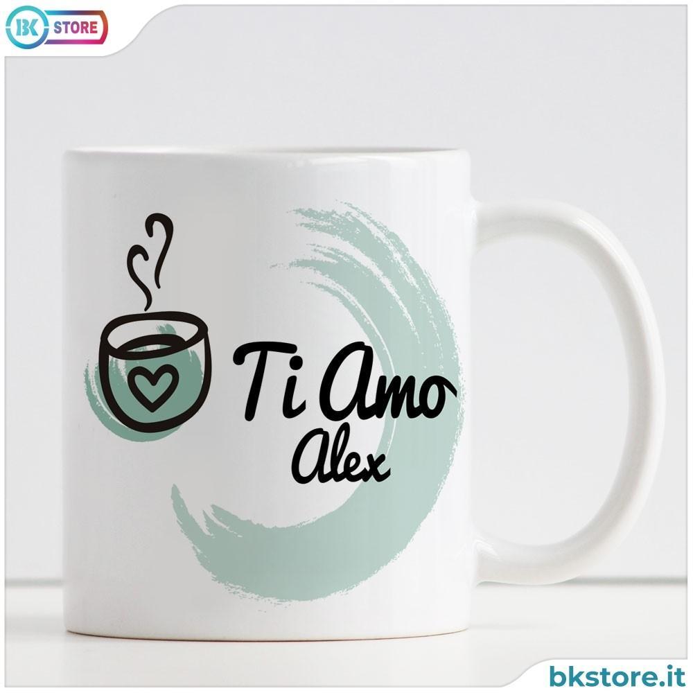 Tazza In Ceramica Personalizzata Con Disegnofrase Damore E Nome