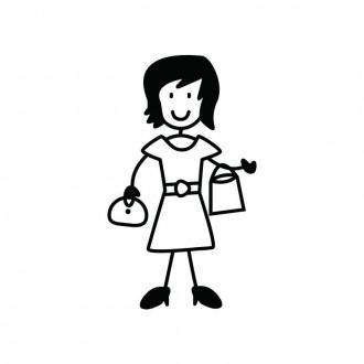 Mamma shopping - adesivi famiglia